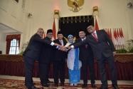 Pelantikan Pimpinan Bawaslu RI Periode 2017 - 2022