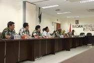 Rombongan Komisi A Dewan Perwakilan Rakyat Daerah (DPRD) Kabupaten Pekalongan, Jawa Tengah melakukan kunjungan kerja ke kantor Bawaslu RI, Selasa, (26/1).