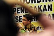 Anggota Komisi II DPR RI Arteria Dahlan saat memberikan materi terkait regulasi Pilkada dalam Rakornas Penanganan Pelanggaran Pilkada Tahun 2017 di Yogyakarta, Sabtu (30 November s/d 2 desember 2016)
